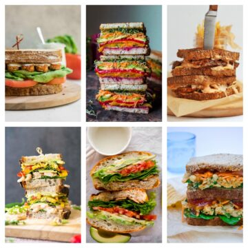 A selection of vegan sandwiches