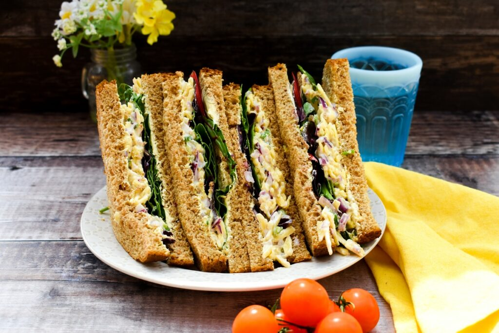 Vegan Cheese and Onion Sandwiches