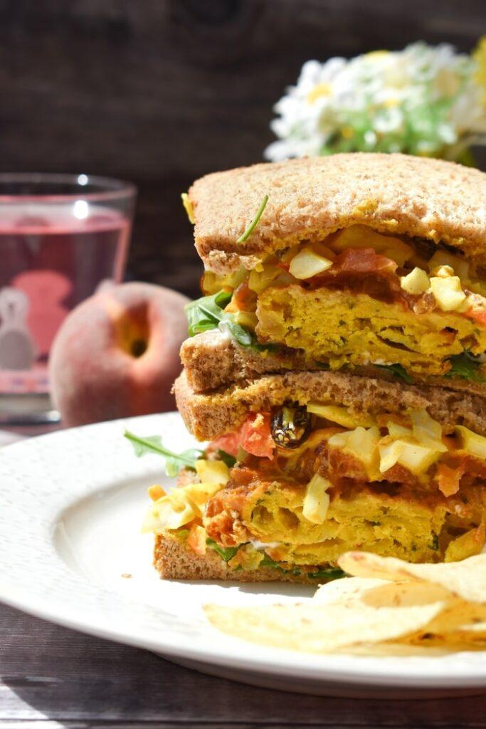 Coronation coleslaw sandwich