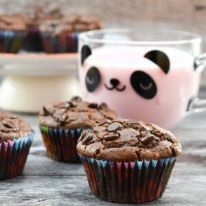 Back-to-School Vegan Chocolate Muffins