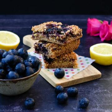 Blueberry Lemon Oat Bars