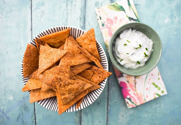 homemade paprika tortilla chips