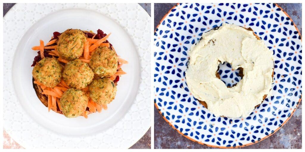 Falafel & Beetroot Bagel  - Step 3