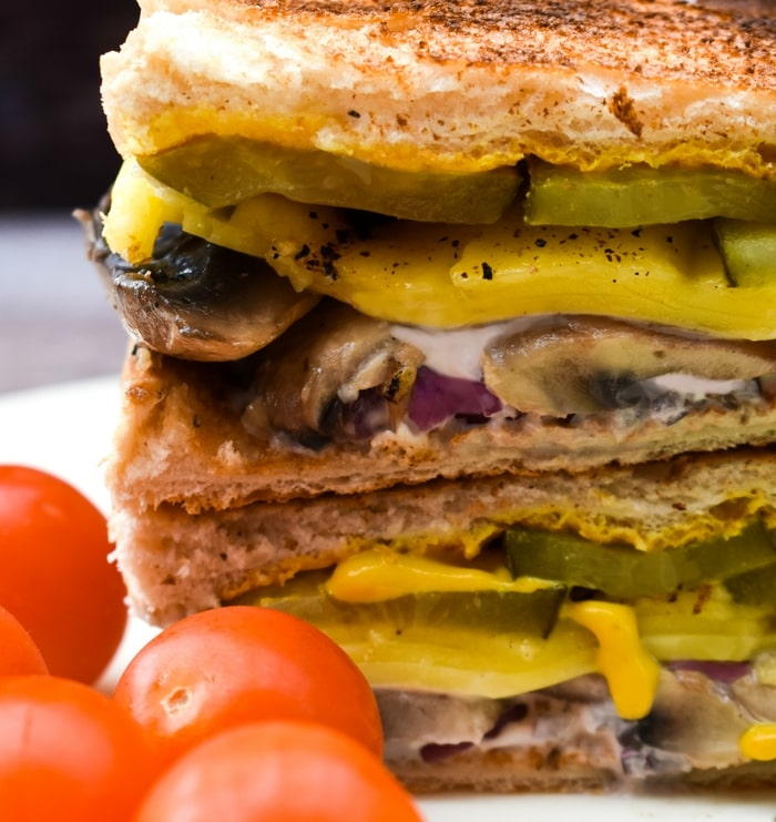 close up of cuban sandwich