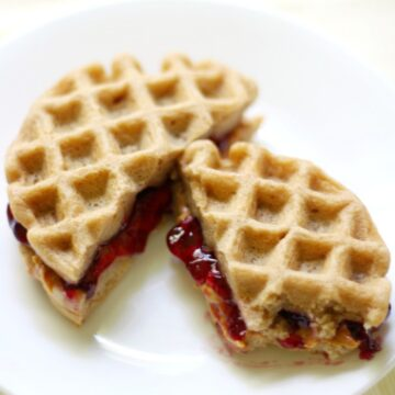 Peanut Butter & Jelly Waffle Sandwiches