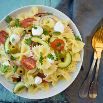 Vegan Greek Pasta Salad