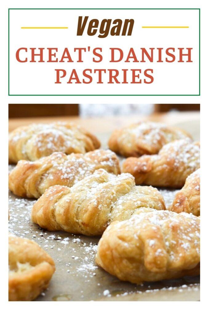 Cheats Vegan Danish Pastries on a baking tray
