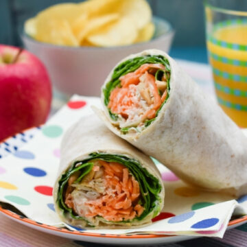 Carrot & Spinach Crunch Wrap