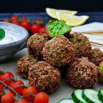 Green Edamame Bean & Pea Falafel