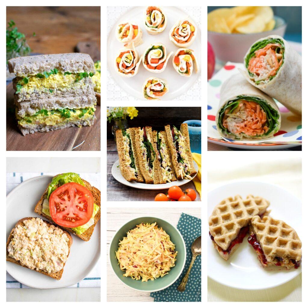 vegan sandwiches and wraps