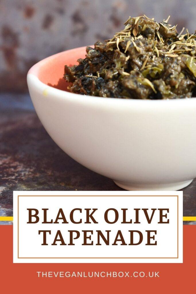 easy homemade black olive tapenade suitable for vegans