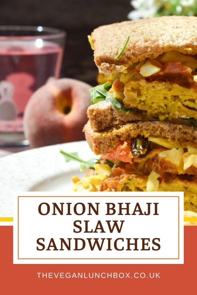 Onion bhaji slaw sandwiches