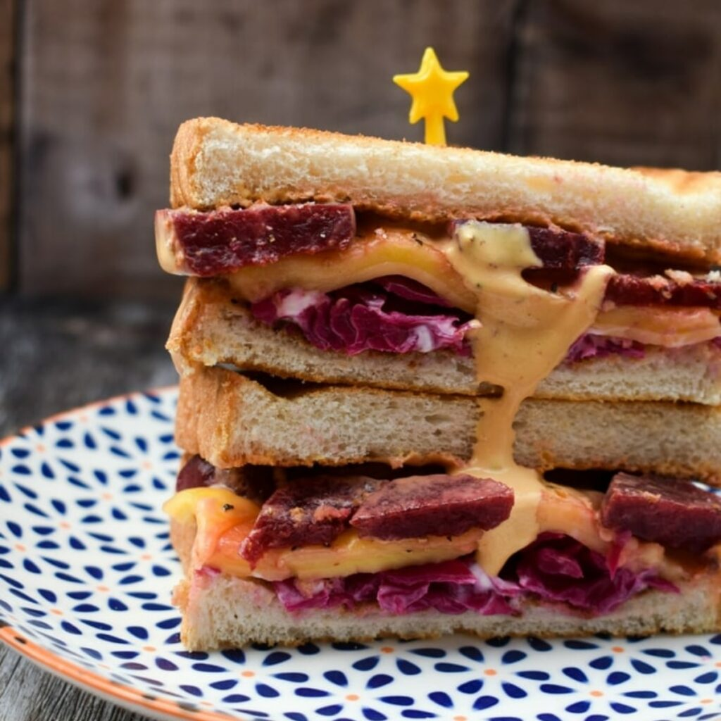 Toasted Vegan Reuben Sandwich Recipe