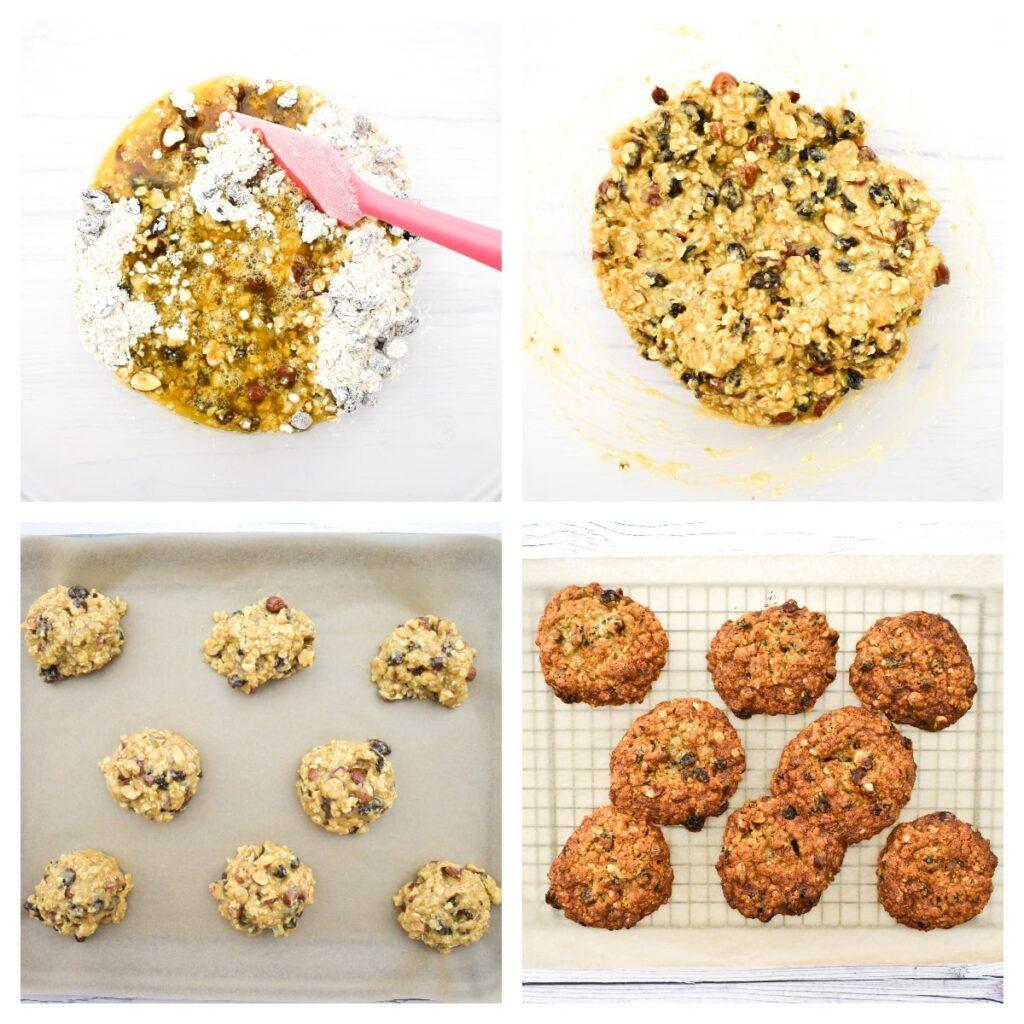 making vegan hazelnut cookies - step