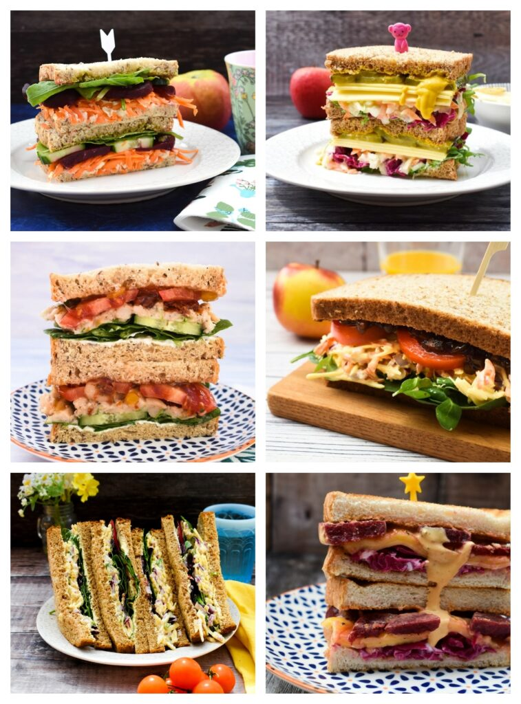 selection of vegan sandwiches